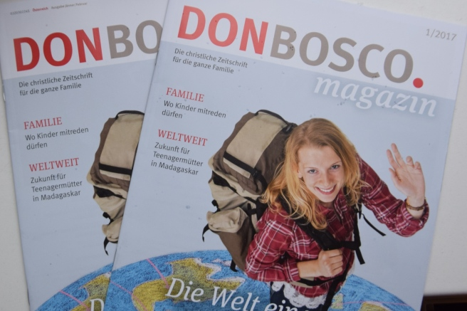Volontariat im Don Bosco Magazin 01/17