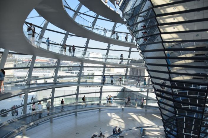 Kuppel des Bundestages in Berlin