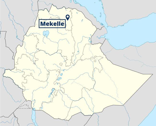 Mekelle in Äthiopien: Karte: NordNordWest, Lizenz: Creative Commons by-sa-3.0 de, Abwandlung: Peter Rinderer